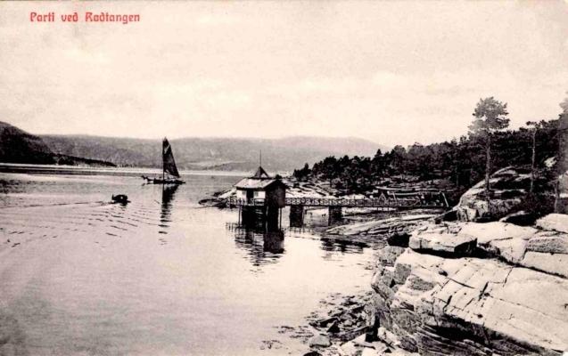 Et annet badehus var «Herrebadet» i Håvika, et kur- og gytjebad forbeholdt menn. Fotoet er fra cirka 1912. Fotograf og utgiver er ukjent. Kortet er poststemplet 13.8.1915. Fra teksten: «… det er så deilig herude, - røde varme farger.»